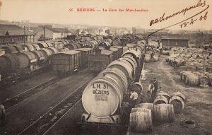 des milliers de wagons-citernes dits « foudres » partaient jadis de Béziers